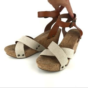 Lucky Brand Morrys Cork Wedges